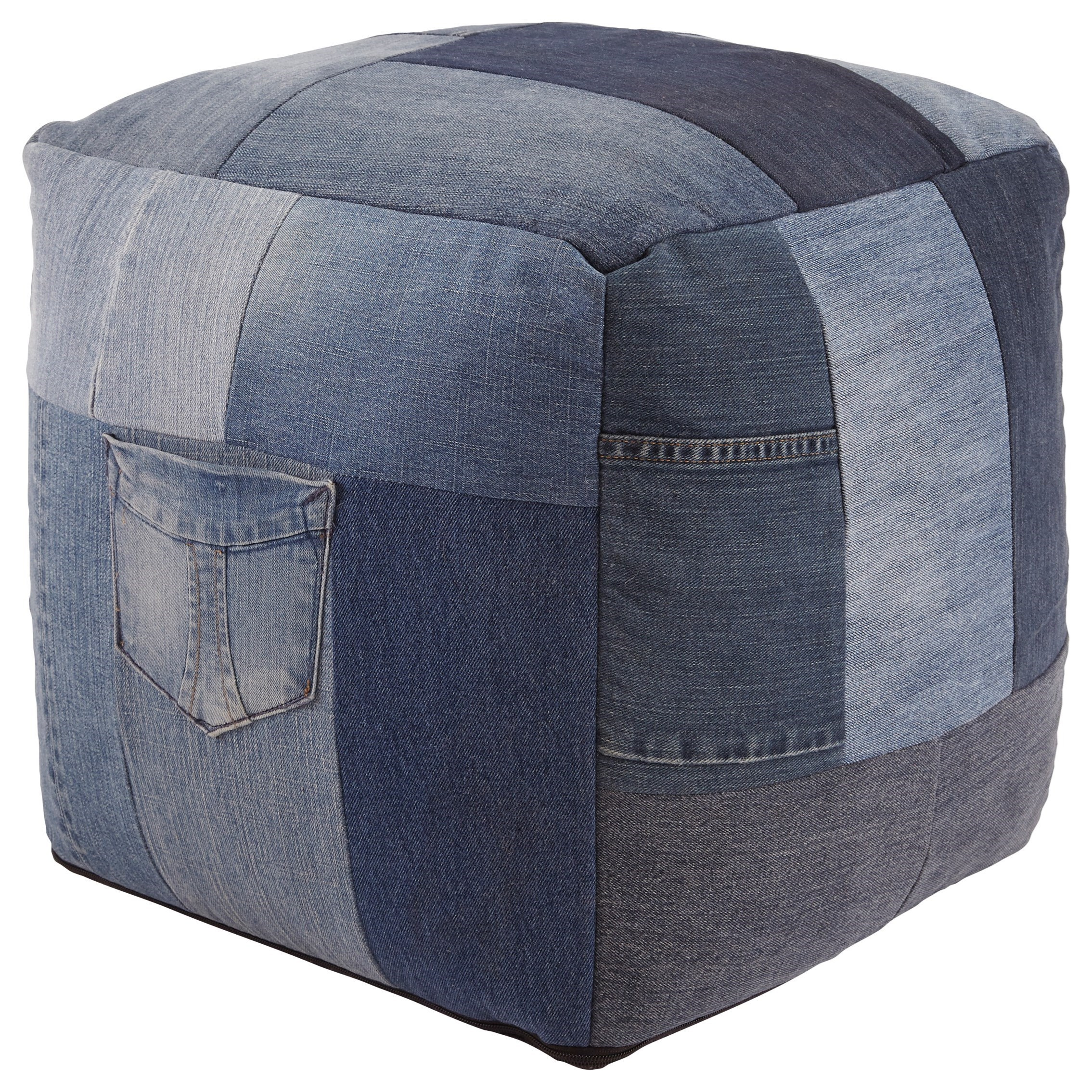 Signature Design by Ashley Poufs Aaden - Blue Pouf - Item Number: A1000549