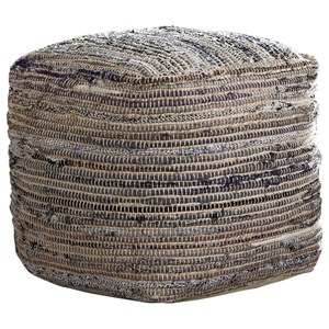Signature Design by Ashley Poufs Absalom - Natural Pouf