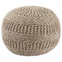 Signature Design by Ashley Poufs Benedict - Natural Pouf - Item Number: A1000558