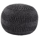 Signature Design by Ashley Poufs Benedict - Charcoal Pouf - Item Number: A1000559