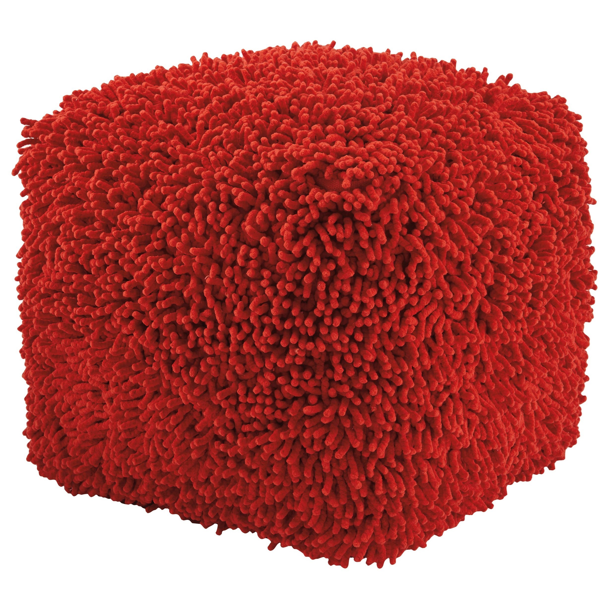 Signature Design by Ashley Poufs Taisce - Red Pouf - Item Number: A1000562