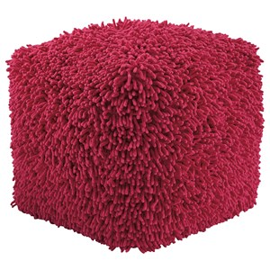 Signature Design by Ashley Poufs Taisce - Fuchsia Pouf