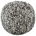 Signature Design by Ashley Poufs Latricia Black/White Pouf - Item Number: A1000828