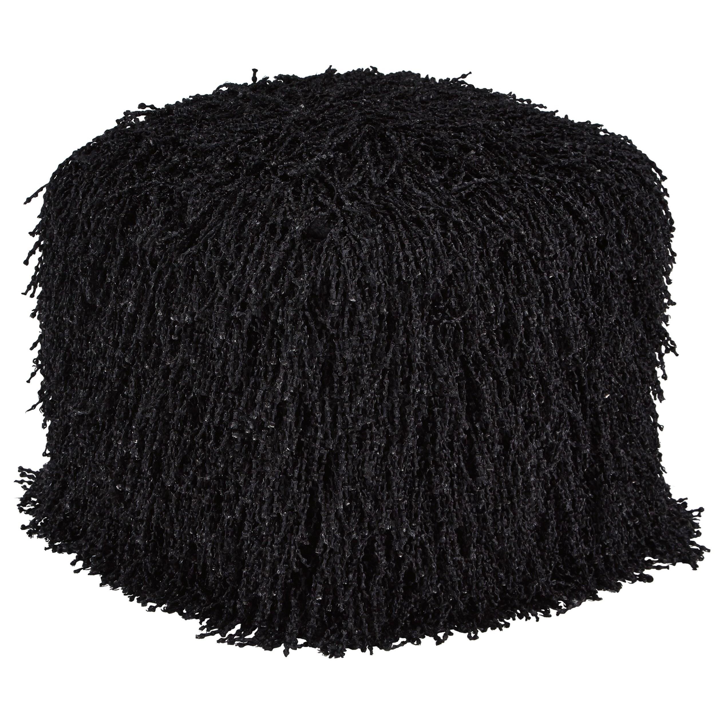 Cairo Black Pouf