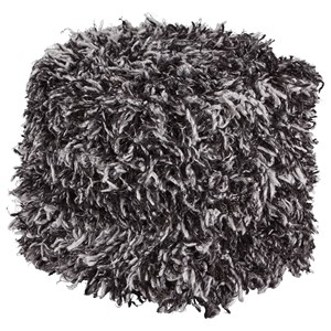 Gelsey Black/White Pouf