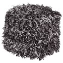 Signature Design by Ashley Poufs Gelsey Black/White Pouf - Item Number: A1000849