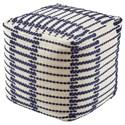 Signature Design by Ashley Poufs Lanka Blue/White Pouf - Item Number: A1000938