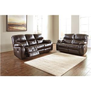Signature Design by Ashley Furniture Pranas Reclining Living Room Group
