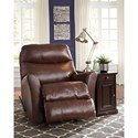 Signature Design by Ashley Pranav Leather Match Rocker Recliner
