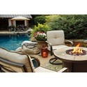 Signature Design by Ashley Predmore 5-Piece Round Fire Pit Table Set w/ Swivel Lounge Chairs