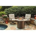 Signature Design by Ashley Predmore Set of 2 Swivel Lounge Chairs