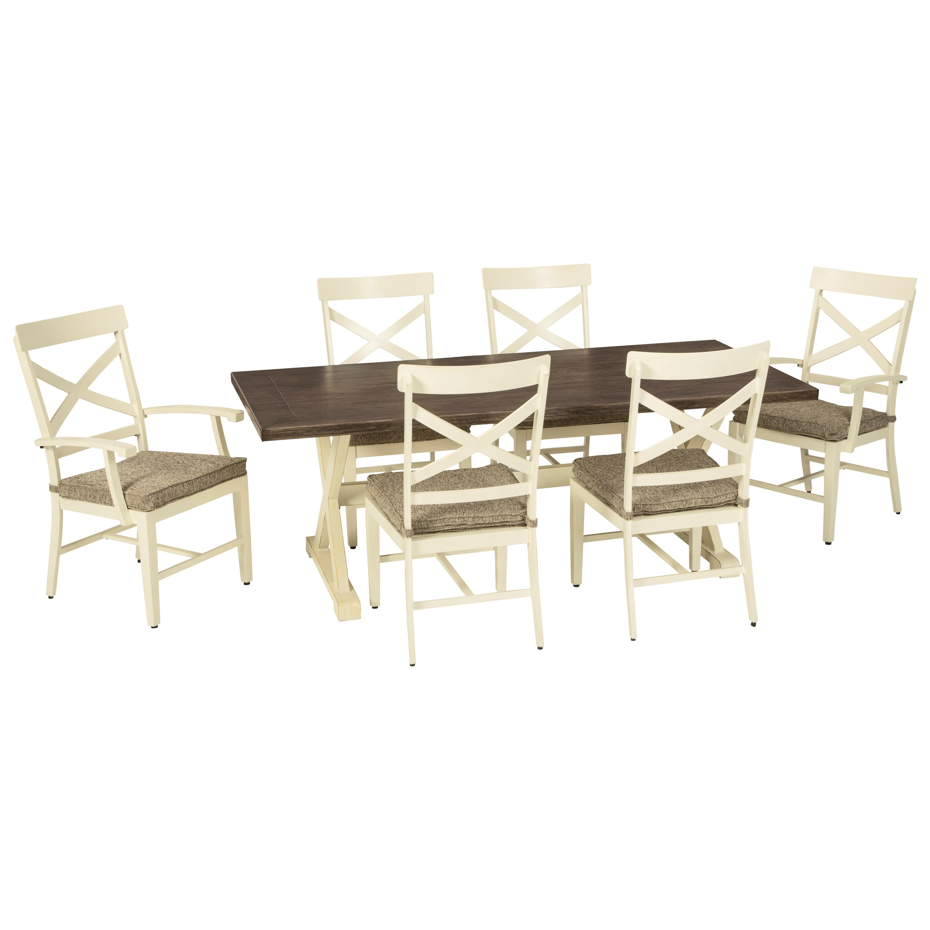 Preston Bay 7-Piece Outdoor Dining Set by Signature Design by Ashley at Furniture and ApplianceMart