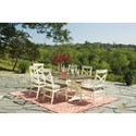Signature Design by Ashley Preston Bay Farmhouse Style Rectangular Dining Table with Umbrella Option