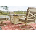 Signature Design by Ashley Preston Bay Outdoor Firepit Table Set