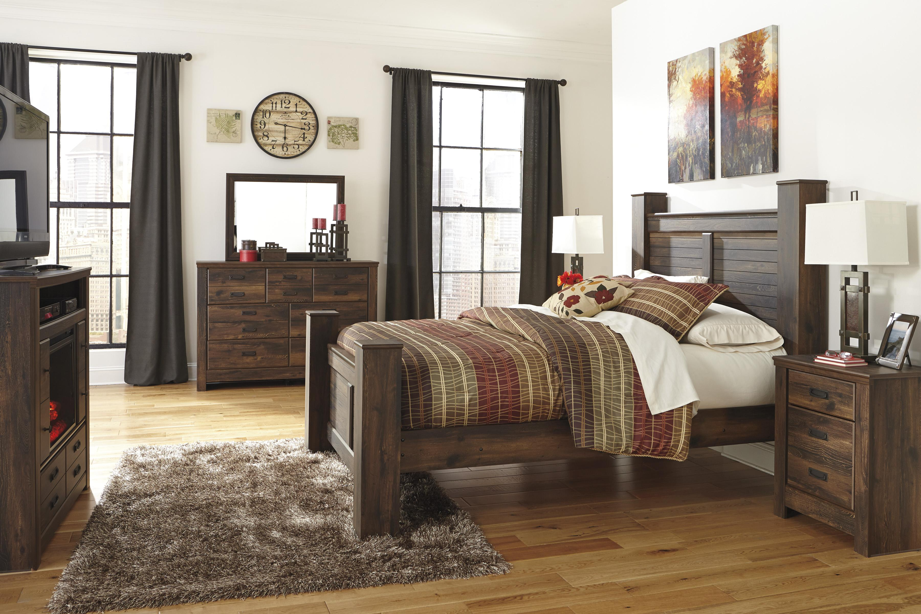 Signature Design by Ashley Quinden Queen Bedroom Group - Item Number: B246 Q Bedroom Group 6