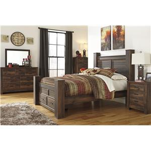 Signature Design by Ashley Quinden 4PC Queen Bedroom with Storage