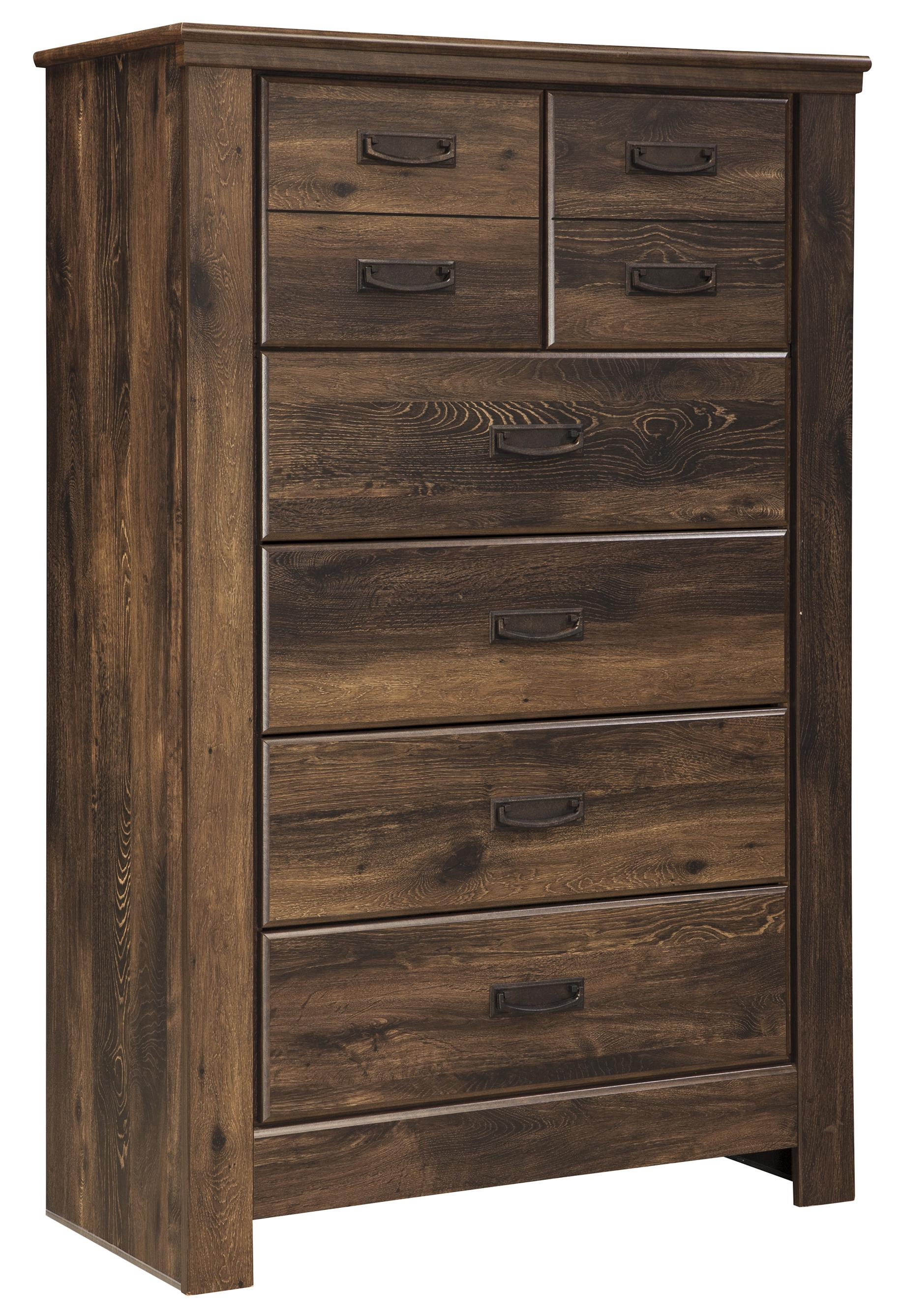 Signature Design by Ashley Quinden Five Drawer Chest - Item Number: B246-46