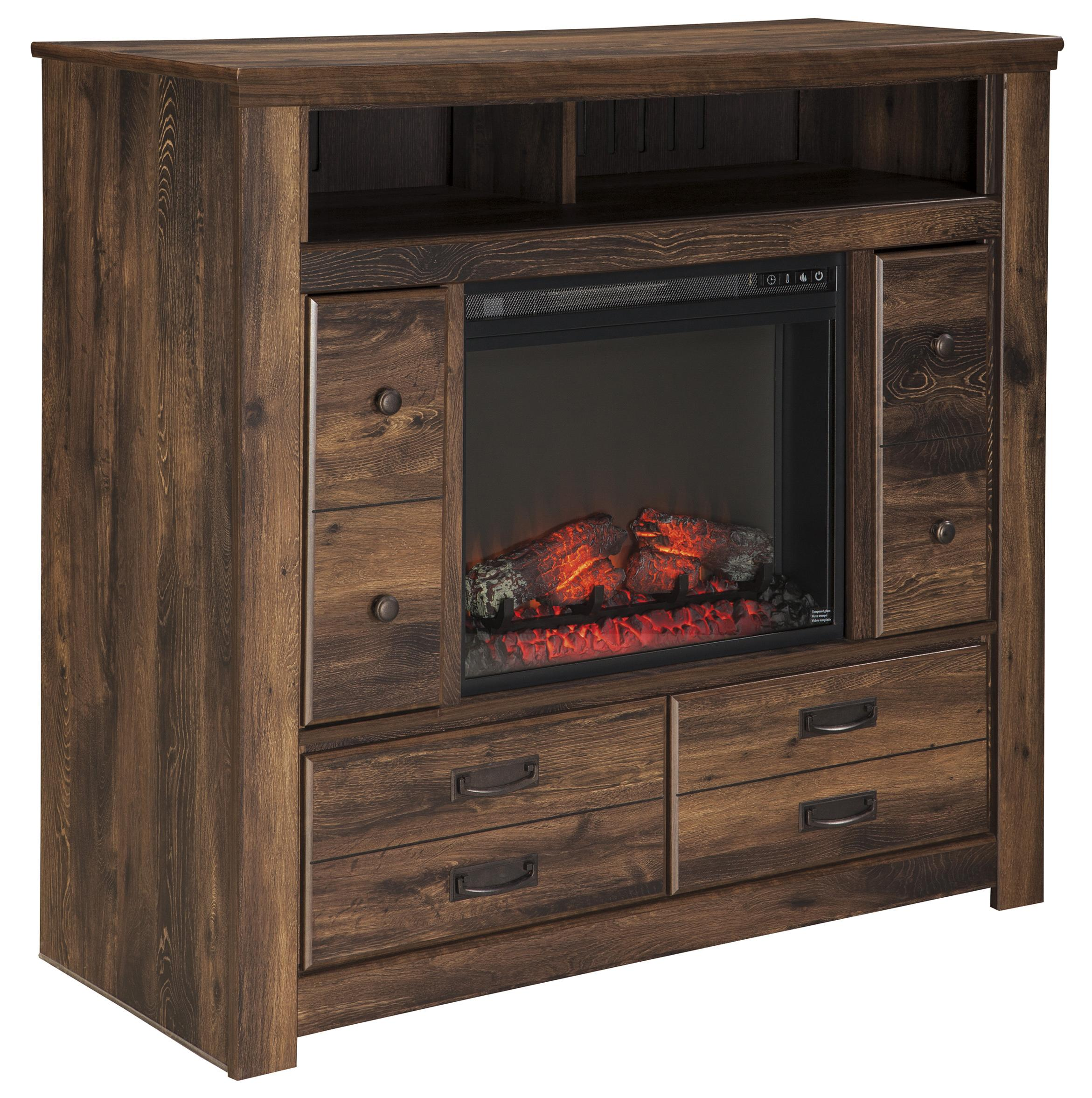 Media Chest with Fireplace Insert