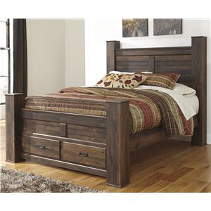 Signature Design by Ashley Quinden Queen Poster Bed with Storage