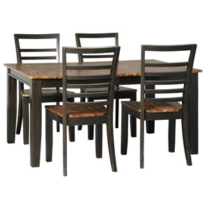Signature Design by Ashley Quinley 5-Piece Table and Chair Set