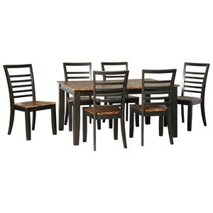 Signature Design by Ashley Quinley 7-Piece Table and Chair Set