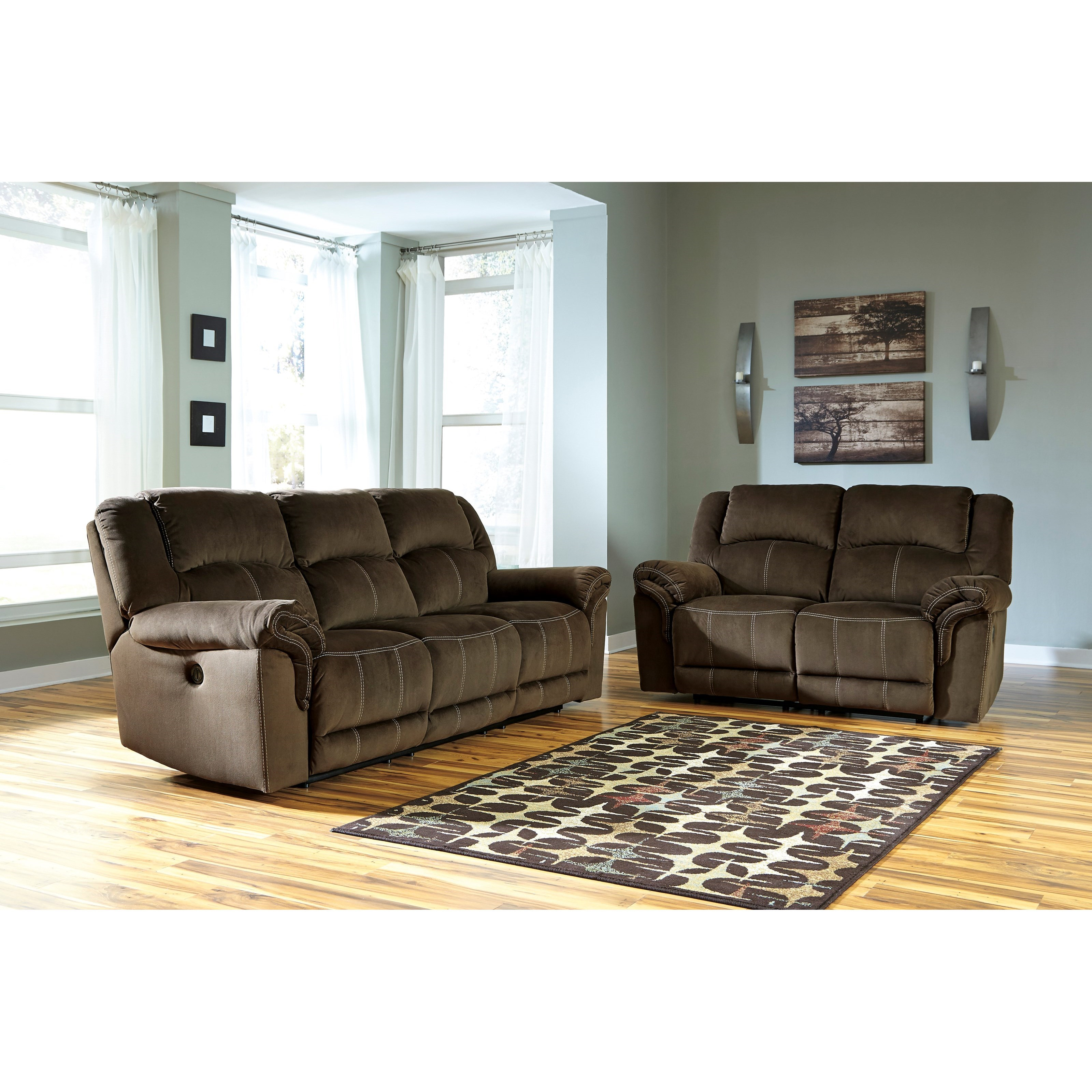 Ashley Signature Design Quinnlyn Reclining Living Room Group - Item Number: 95701 Living Room Group 2