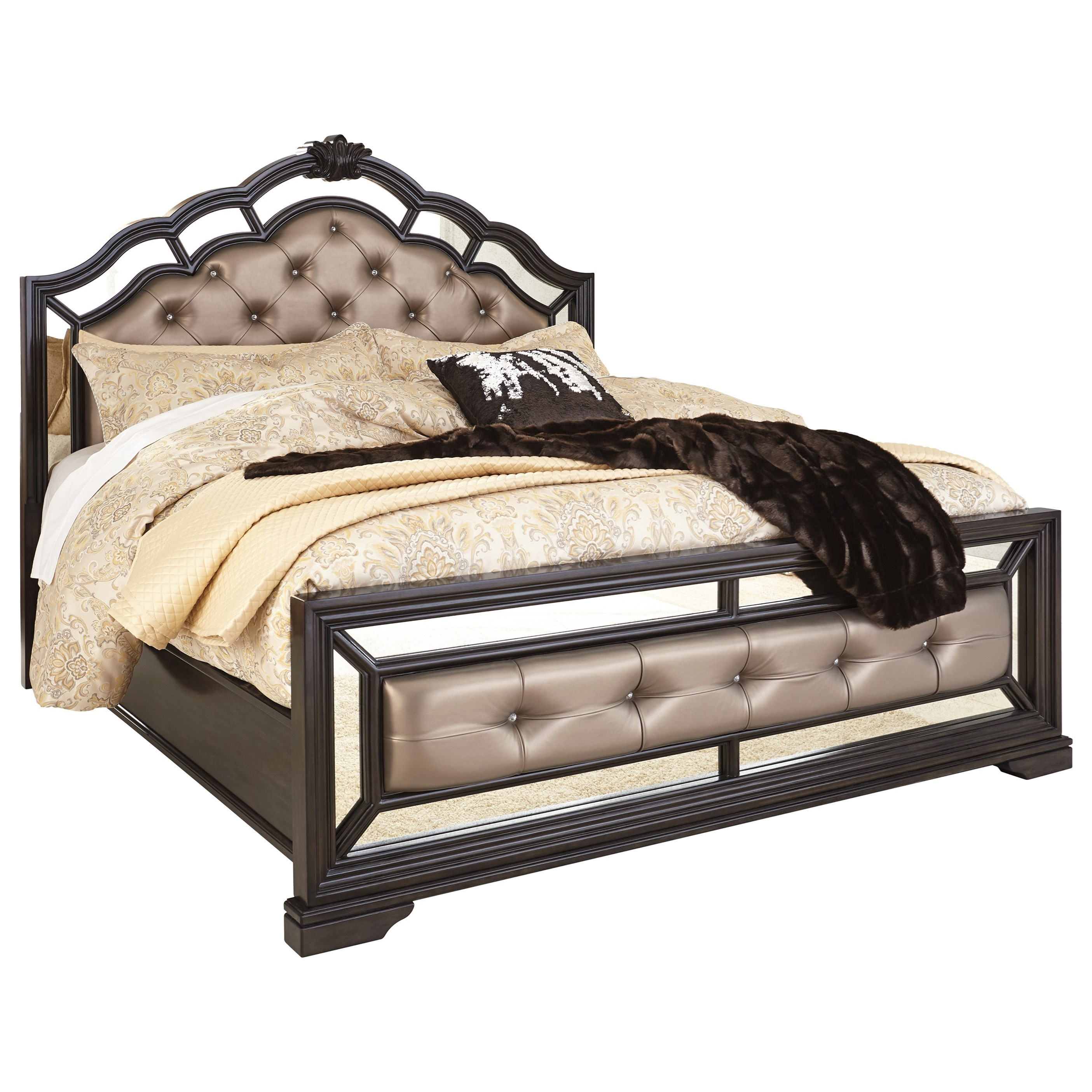 Signature Design by Ashley Quinshire California King Upholstered Panel Bed - Item Number: B728-58+94+56