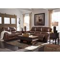 Signature Design by Ashley Rackingburg Reclining Living Room Group - Item Number: U33301 Living Room Group 2