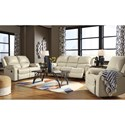 Signature Design by Ashley Rackingburg Reclining Living Room Group - Item Number: U33302 Living Room Group 4