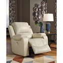 Signature Design by Ashley Rackingburg Power Rocker Recliner with Bustle Back