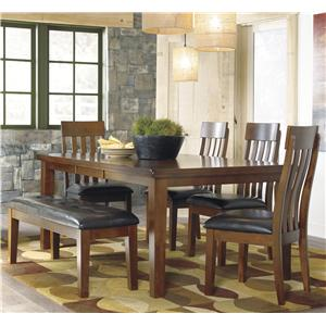 Signature Design by Ashley Ralene 6 Pc Dining Set with Bench