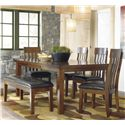 Signature Design by Ashley Ralene 6 Pc Dining Set with Bench - Item Number: D594-35+4x01+00