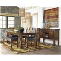 Signature Design by Ashley Ralene Casual 6 Piece Dining Set with Butterfly Extension Leaf & Bench
