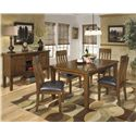 Signature Design by Ashley Ralene Casual Dining Room Server With Wine Rack