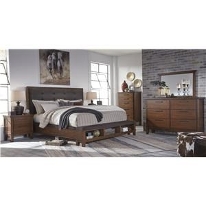 Queen UPH Bed w/ Bench Storage Footboard Pac