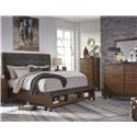 Signature Design by Ashley Ralene Queen 5 Piece Bedroom Group - Item Number: B594 Q 4-Piece Bedroom Group