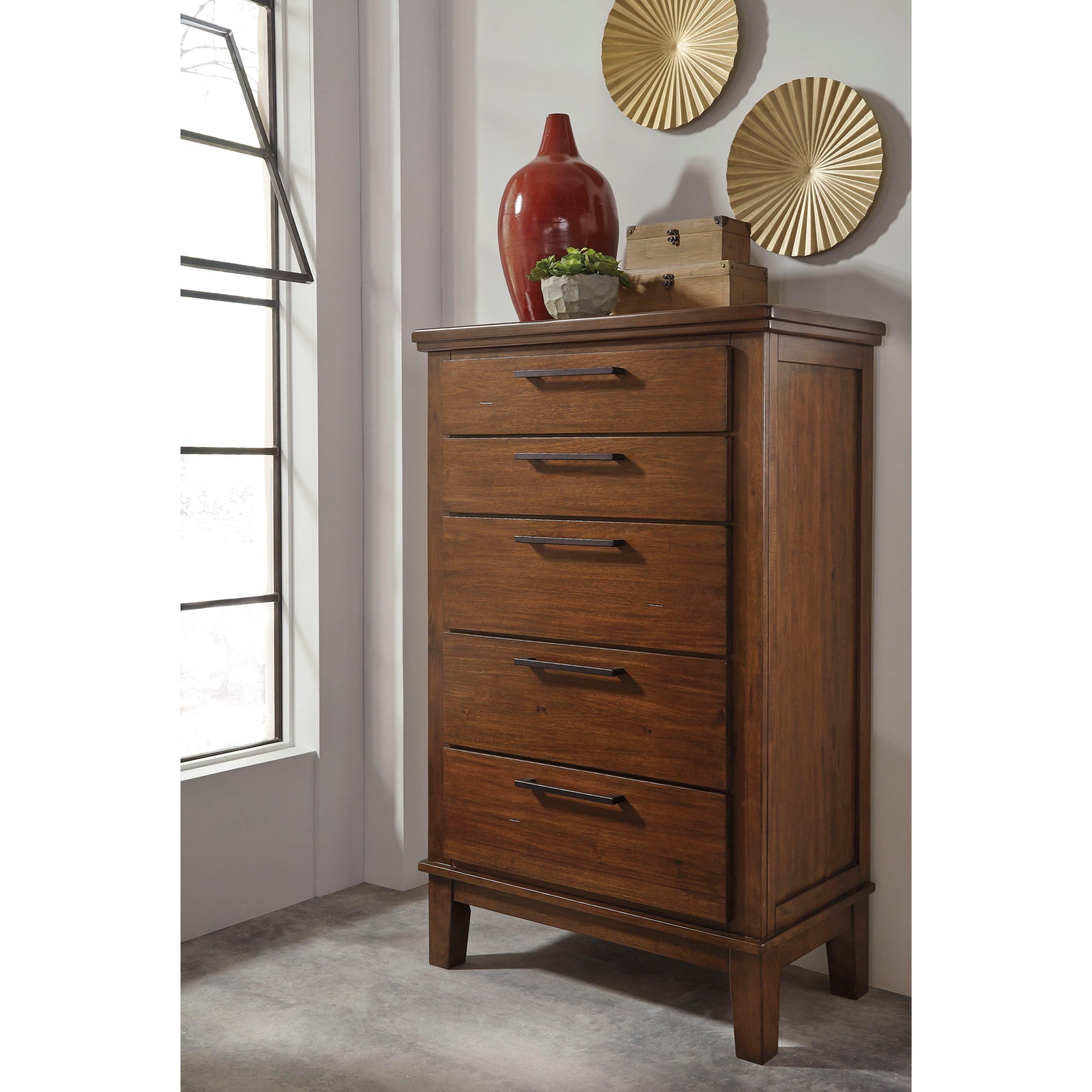 Signature Design By Ashley Ralene Five Drawer Chest With