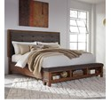 Signature Design by Ashley Ralene Cal King Upholstered Bed w/ Storage Ftbd - Item Number: B594-58+56+94
