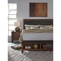 Signature Design by Ashley Ralene King Upholstered Bed with Bench Storage Footboard