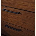 Signature Design by Ashley Ralene 2-Drawer Nightstand with Contemporary Bar Pulls