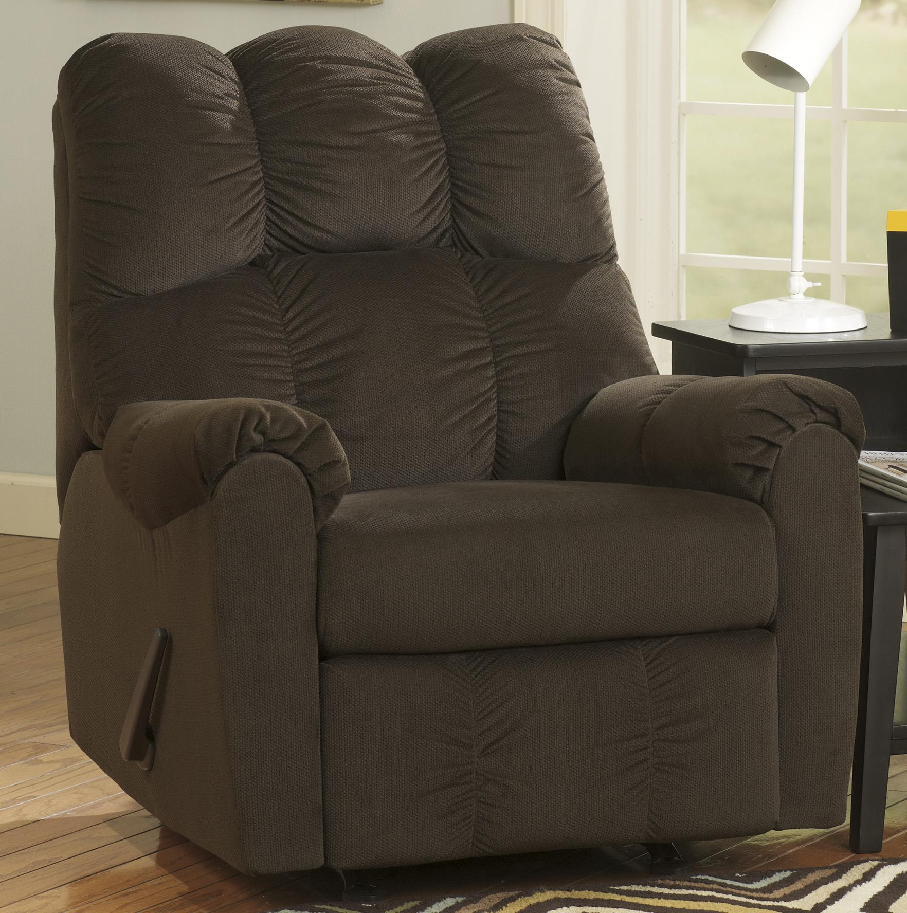 Signature Design by Ashley Raulo - Chocolate Rocker Recliner - Item Number: 1750025