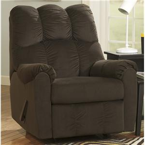 Signature Design by Ashley Raulo - Chocolate Rocker Recliner