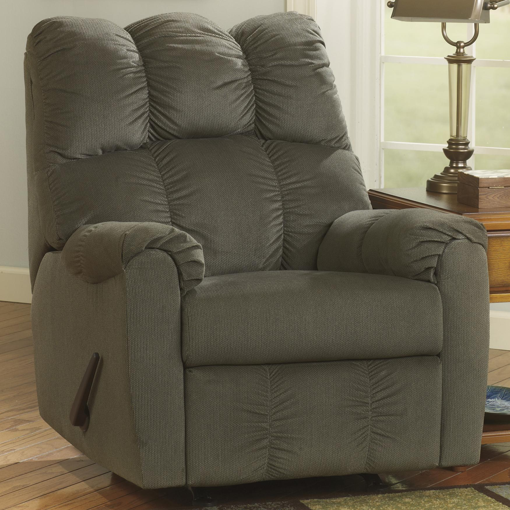 Signature Design by Ashley Raulo - Moss Rocker Recliner - Item Number: 1750225