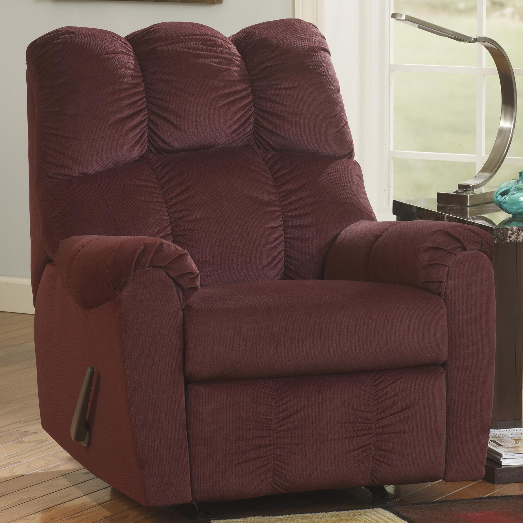 Signature Design by Ashley Raulo - Burgundy Rocker Recliner - Item Number: 1750325