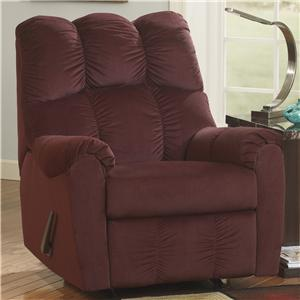 Signature Design by Ashley Raulo - Burgundy Rocker Recliner