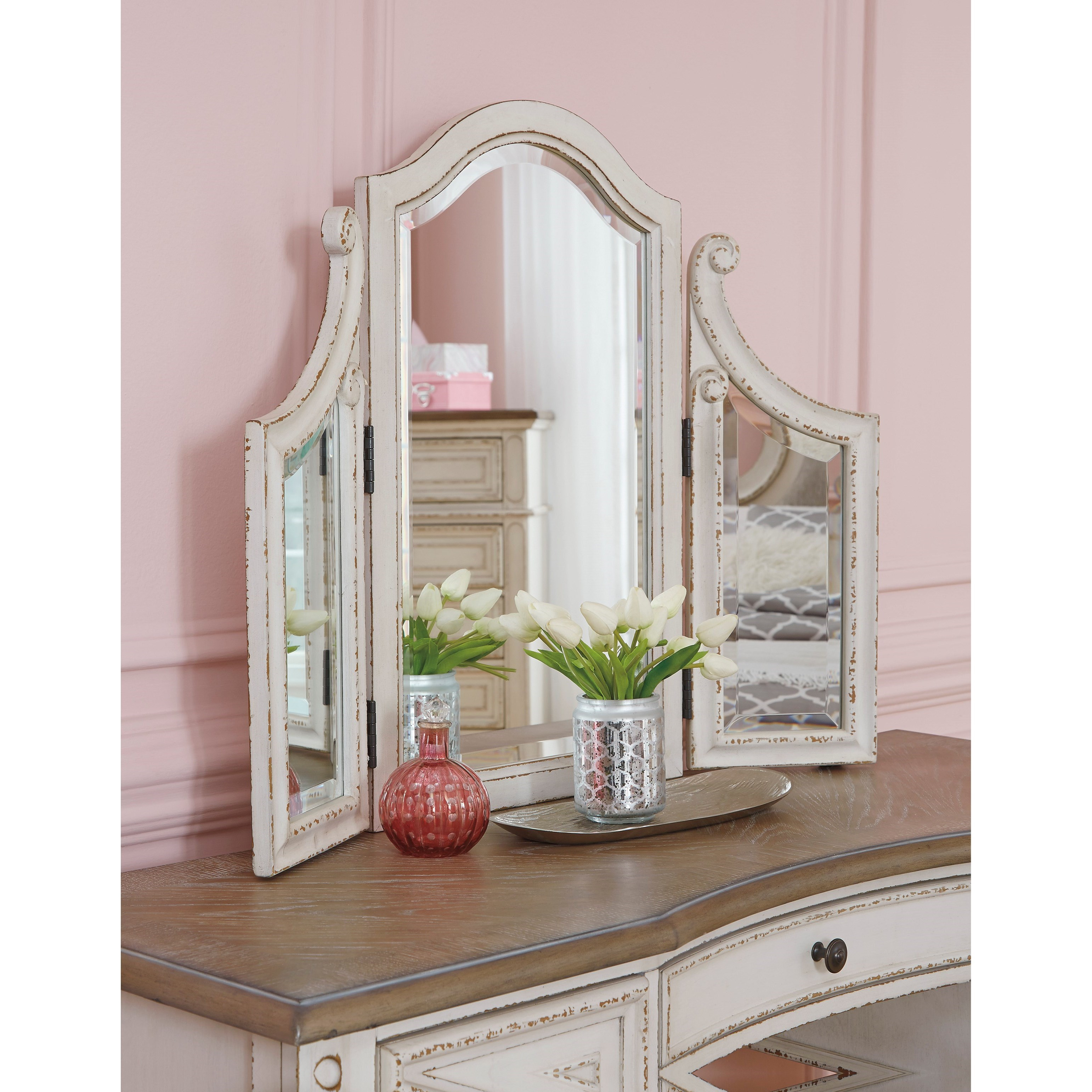 Ashley (Signature Design) Realyn Vanity/Mirror/Stool Set