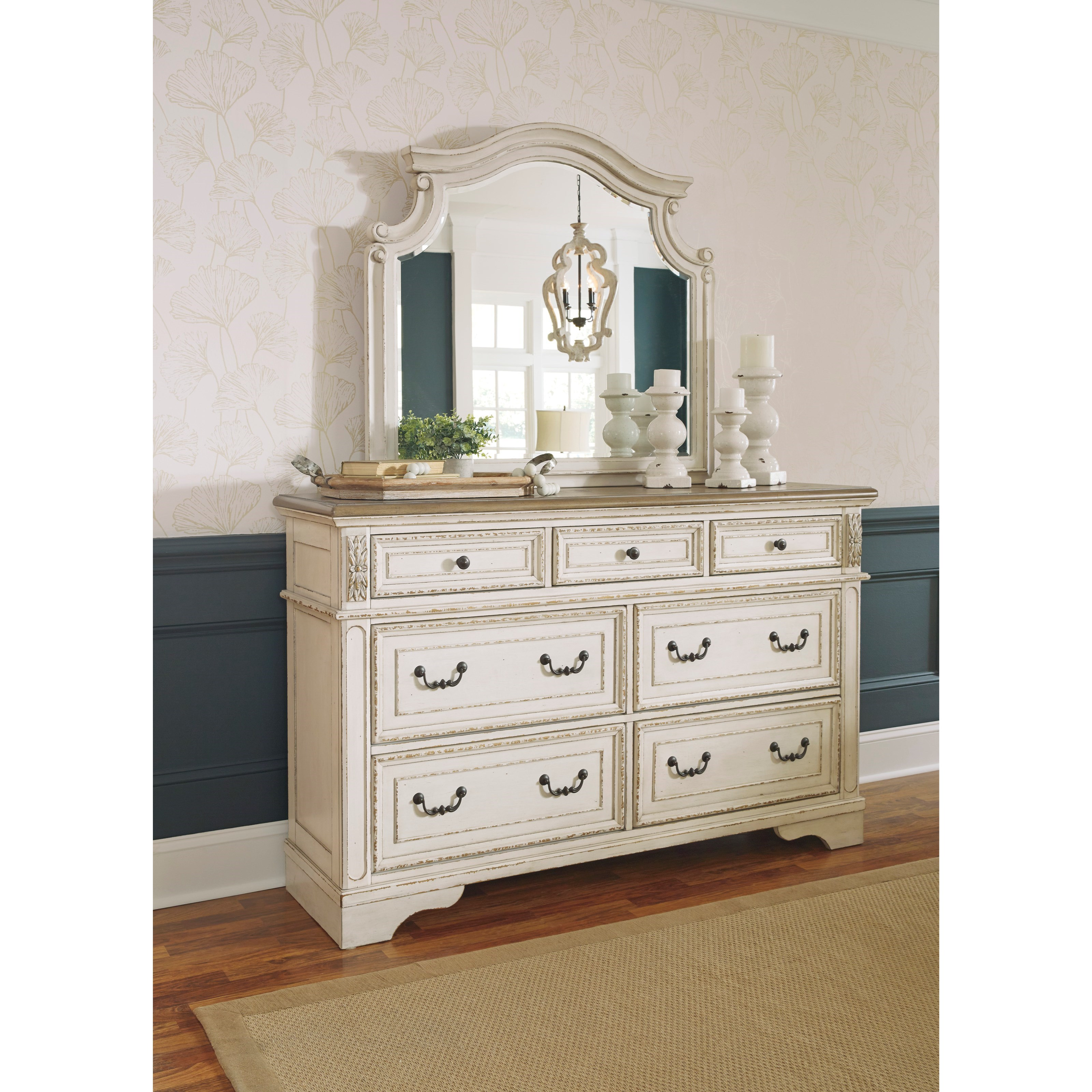 Realyn Dresser and Mirror Set by Signature Design by Ashley at Darvin Furniture