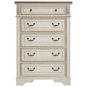 Signature Design by Ashley Realyn Five Drawer Chest