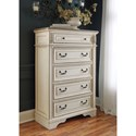 Signature Design by Ashley Realyn Two-Tone 5-Drawer Chest