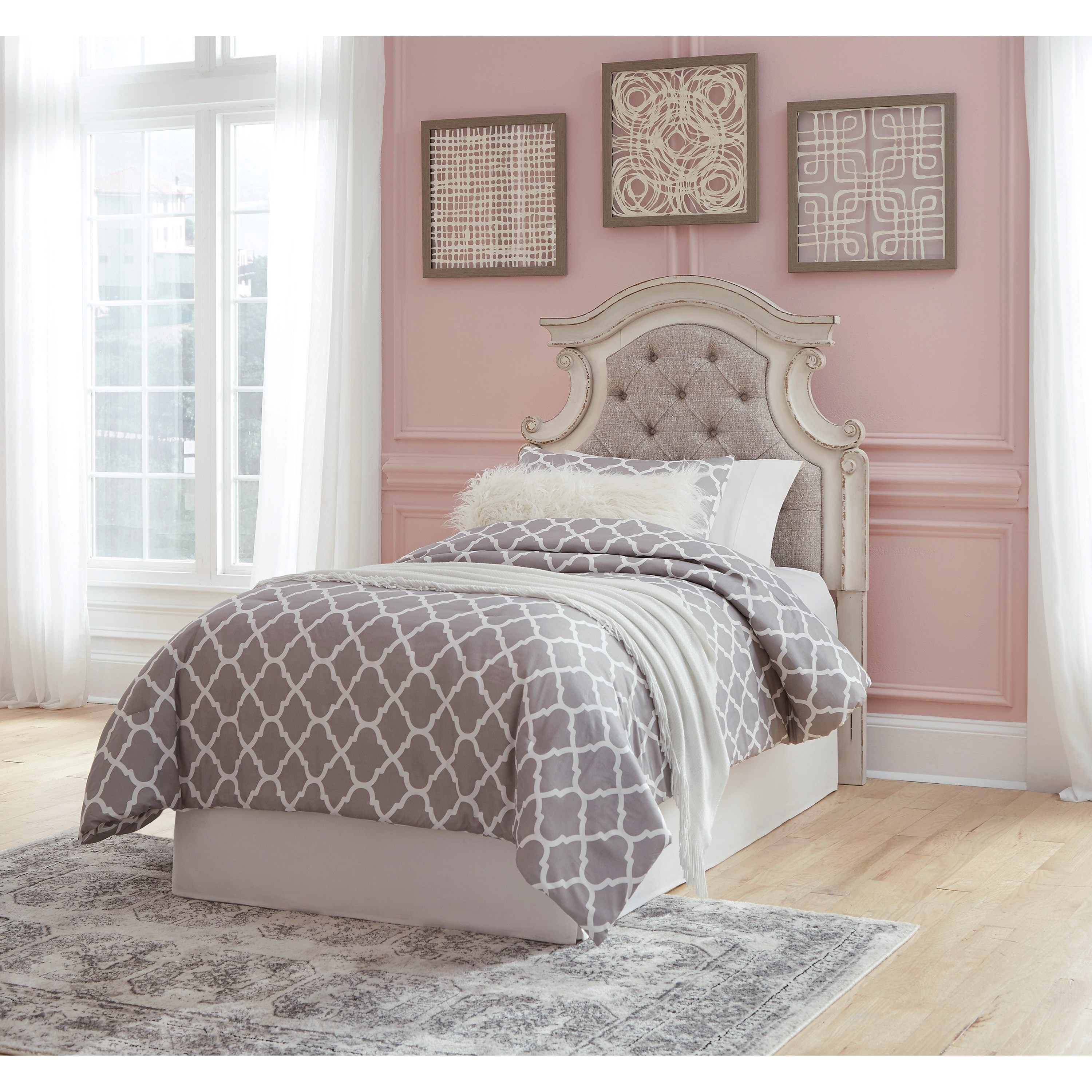 Signature Design By Ashley Realyn B743 53 Twin Upholstered